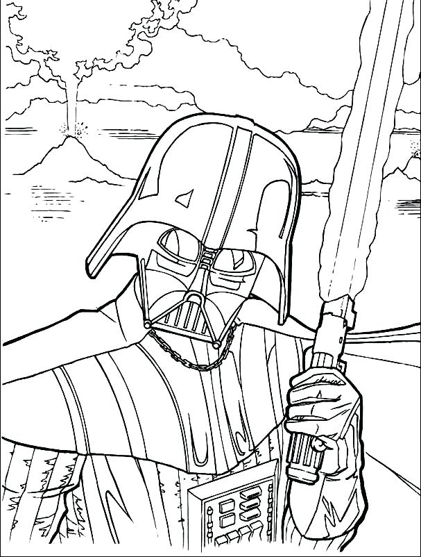 607x802 Coloring Page Star Wars Star Wars Battle Droids Coloring Page Star