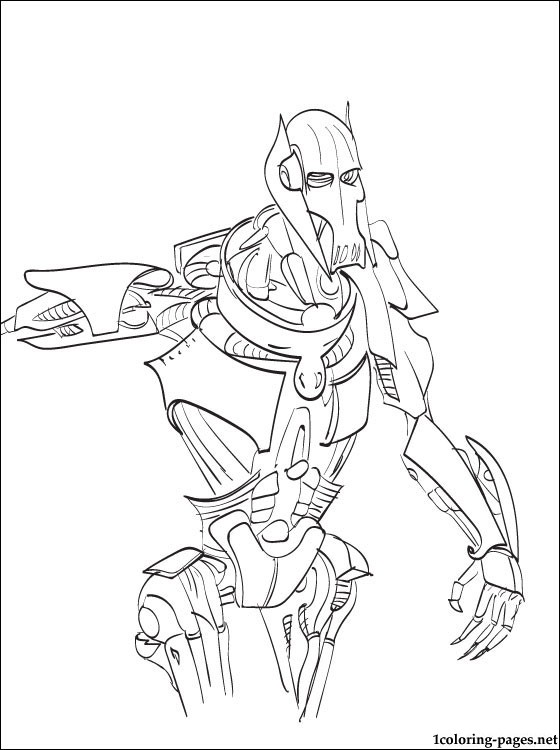 560x750 Star Wars General Grievous Coloring Page Coloring Pages