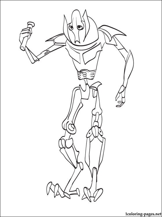 560x750 Star Wars General Grievous Printable Page Coloring Pages