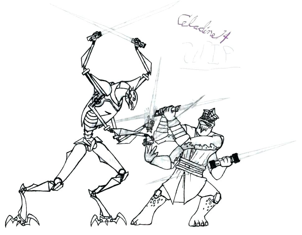 970x757 Star Wars Movie Coloring Pages General Grievous Page Mask