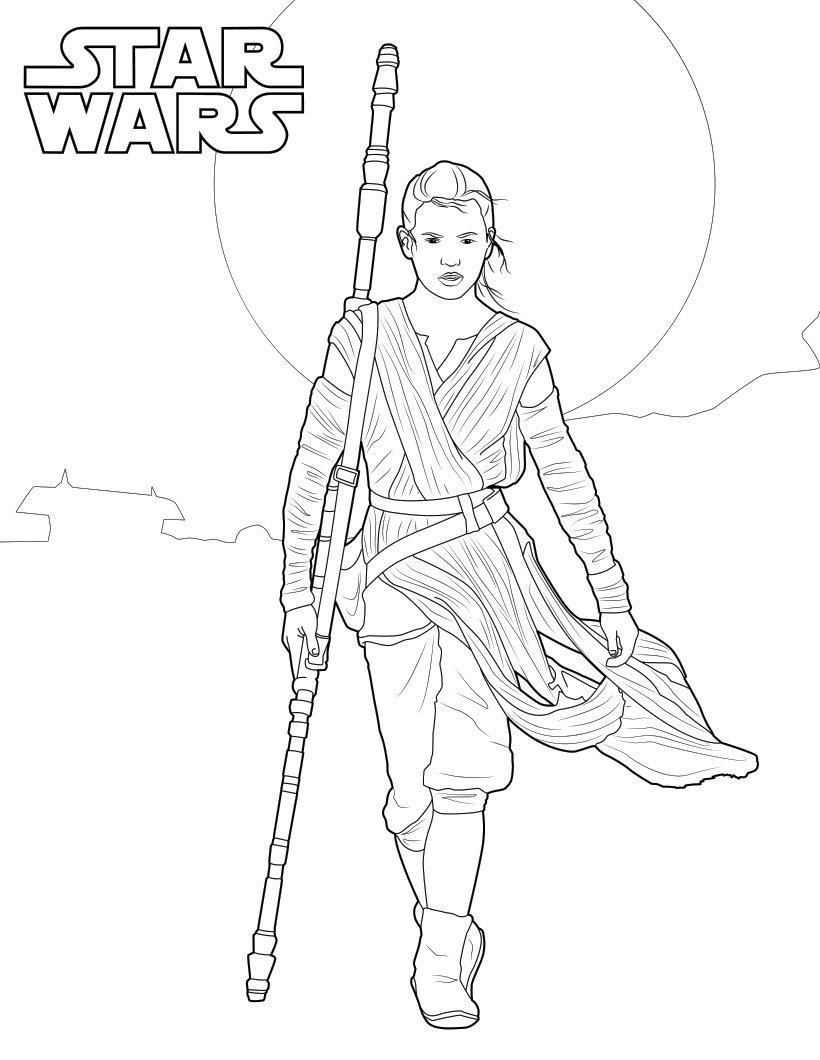 Star Wars Jedi Coloring Pages