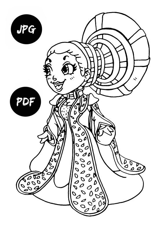 570x806 Queen Amidala Coloring Pages Kids Digital Coloring Pages Printable