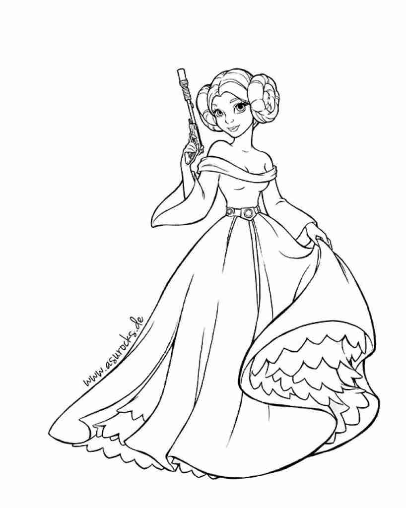 818x1024 Star Wars Coloring Pages Princess Leia With Olegratiy