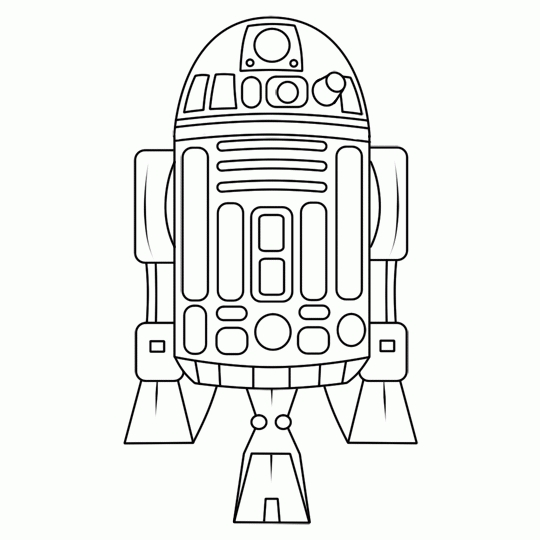 Star Wars R2d2 Coloring Pages
