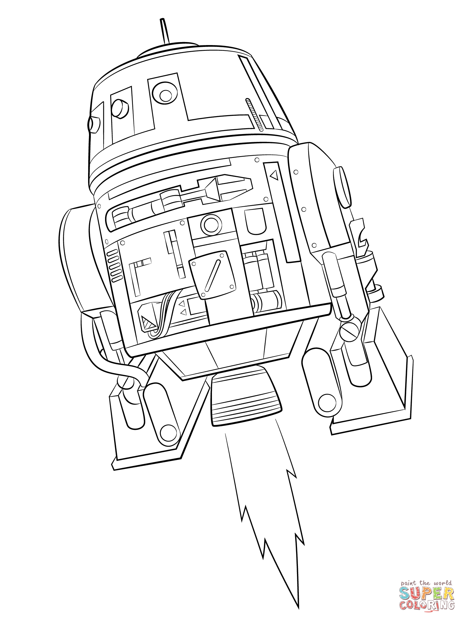 1526x2046 Star Wars Rebels Chopper Super Coloring Lineart Star Wars