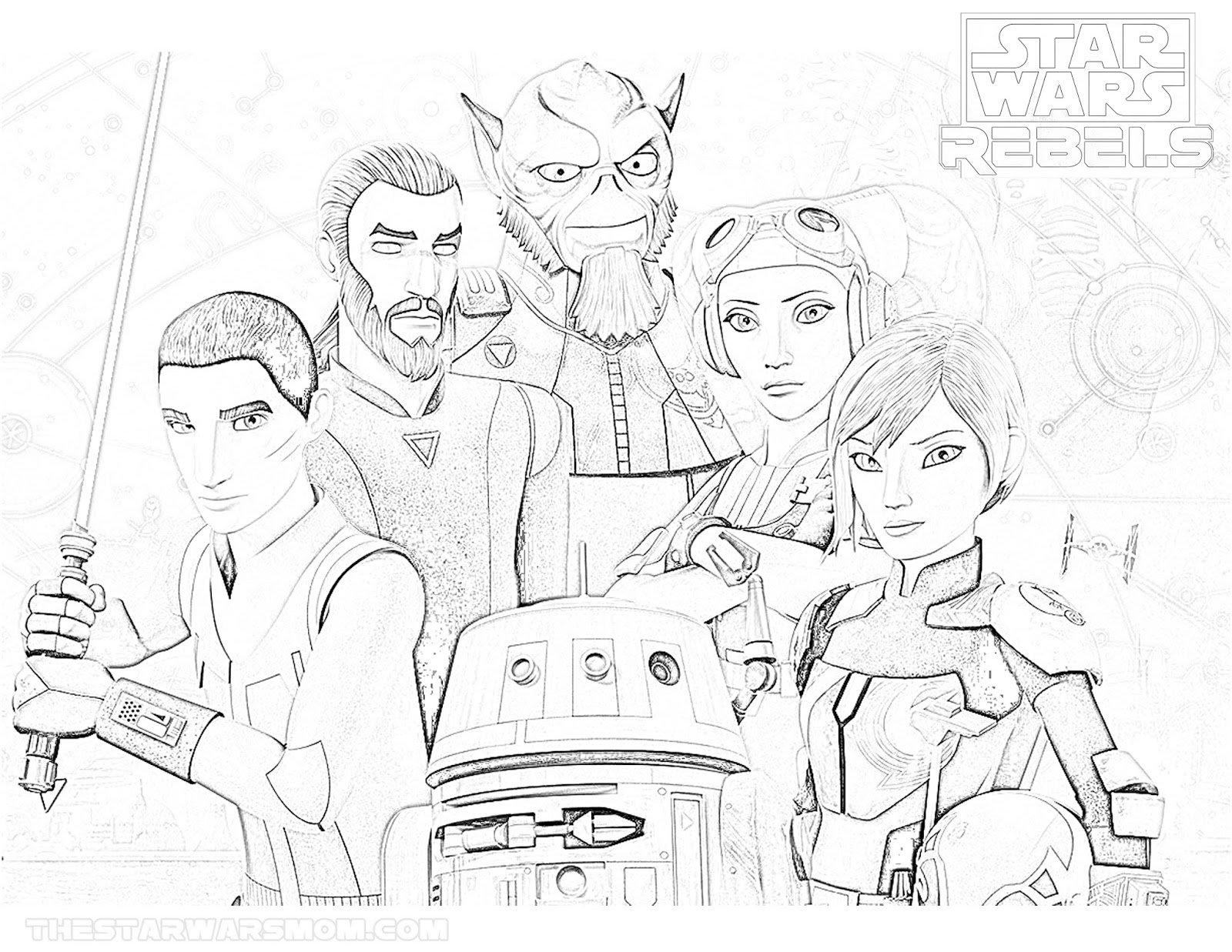 1600x1237 Star Wars Rebels Season Coloring Page