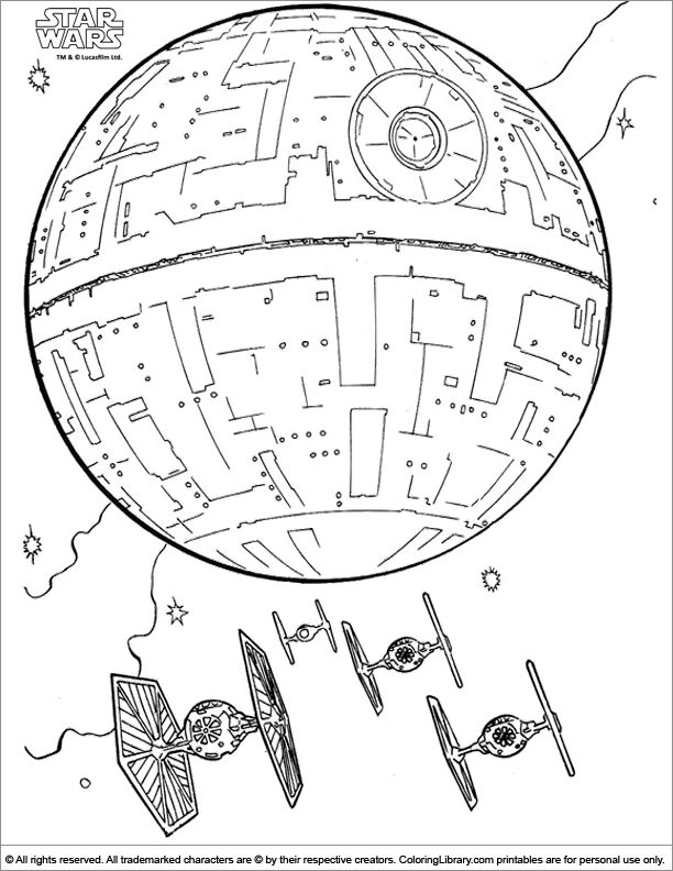 612x792 Star Wars Coloring Picture