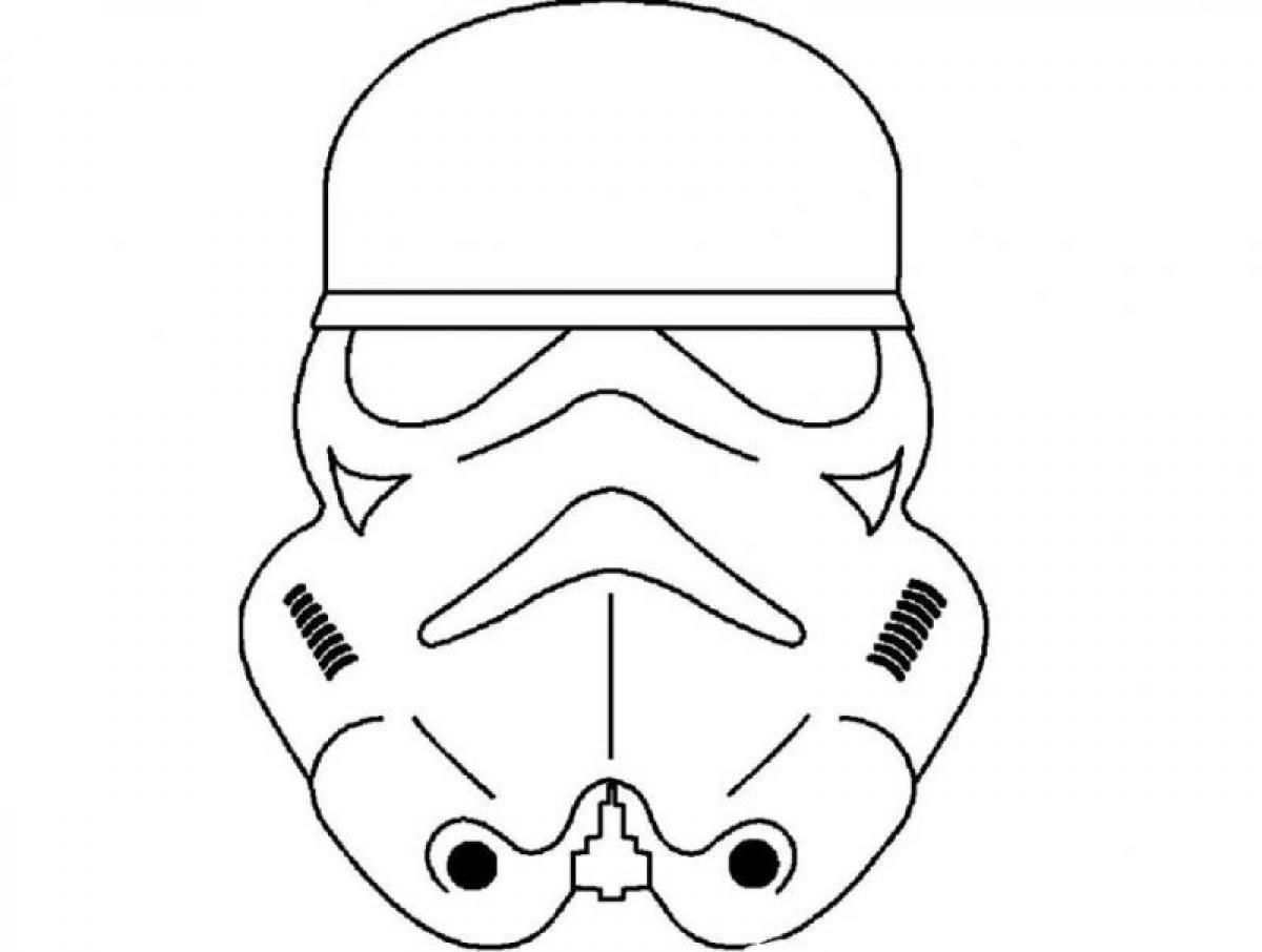 1200x906 Pics Of Star Wars Mask Coloring Pages