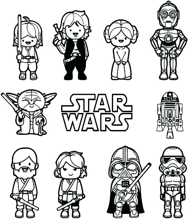 615x716 Star Wars Coloring Sheets Printable Free Star Wars Coloring Pages