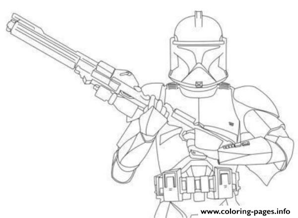600x439 Star Wars Stormtrooper Clone Wars Coloring Pages Printable