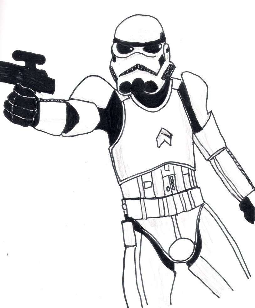 814x982 Star Wars Stormtrooper Coloring Pages Printable Simple
