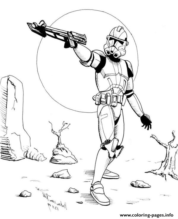 600x737 Star Wars Stormtrooper Coloring Pages Printable