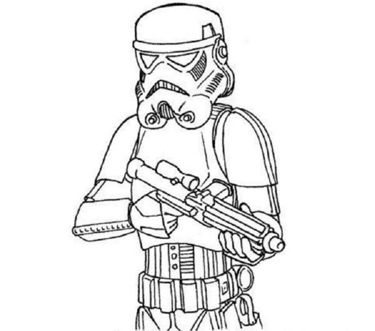 750x661 Star Wars Stormtrooper Coloring Pages Printable