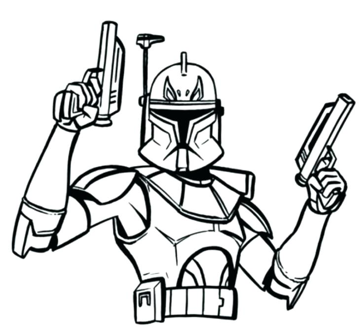 728x676 Coloring Pages To Print Star Wars Page Only Clone Trooper Rd Storm