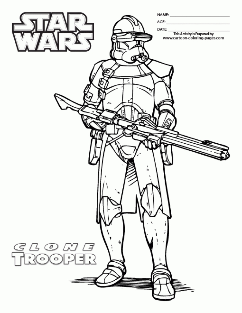 791x1024 Edge Commander Cody Coloring Page