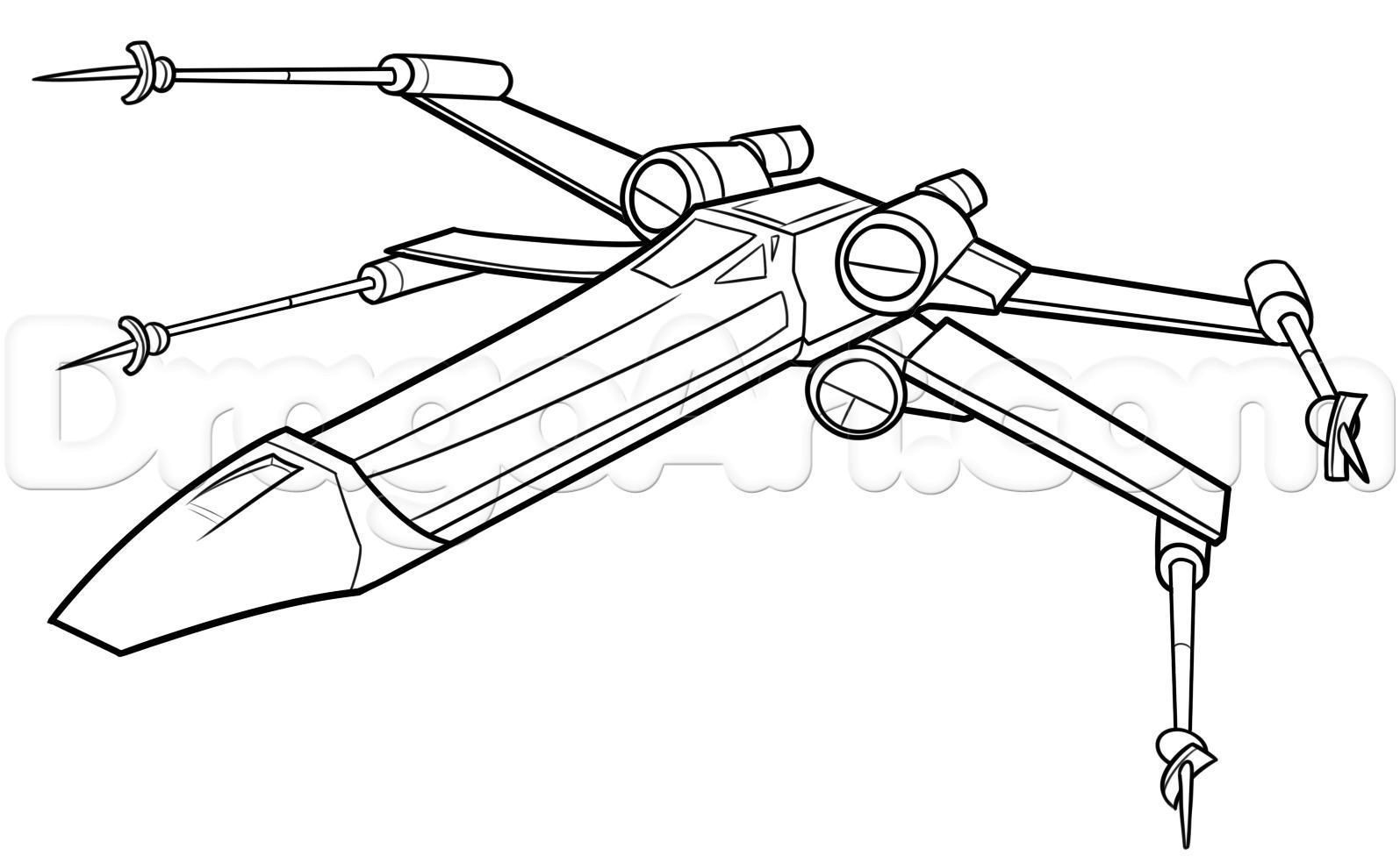 1595x984 Star Wars X Wing Fighter Coloring Pages Printable Striking Wagashiya
