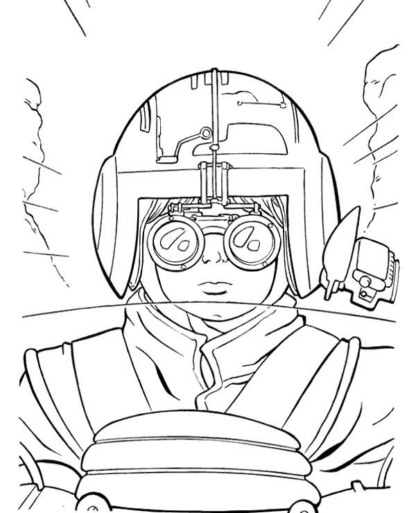 600x740 Star Wars X Wing Pilot Coloring Page To Print Or Download For Free