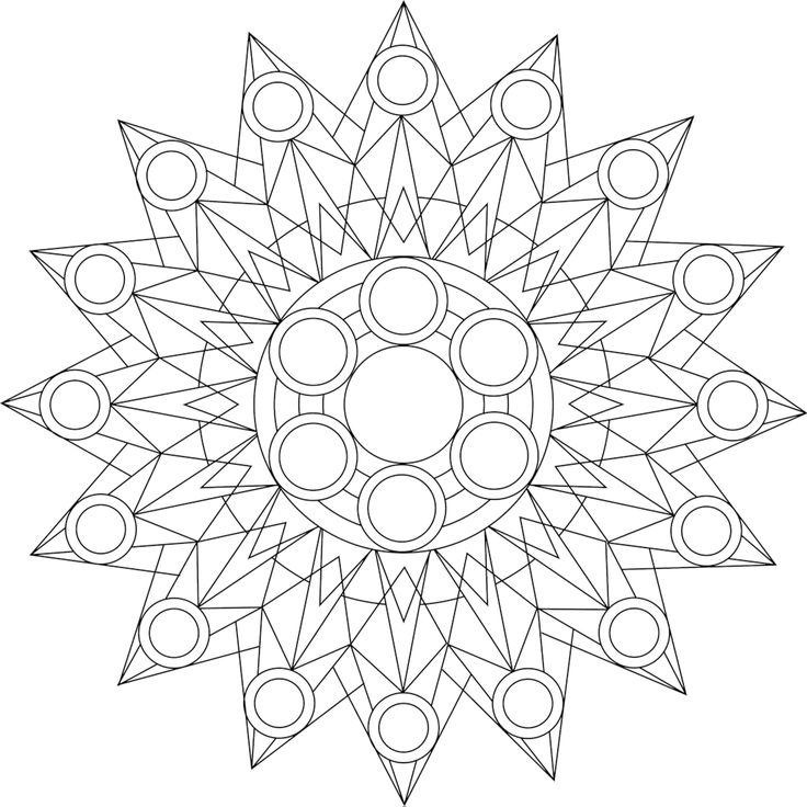 Starburst Coloring Pages