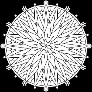 300x300 Starburst Flower Mandala' Is A Traditional Style Circular Mandala