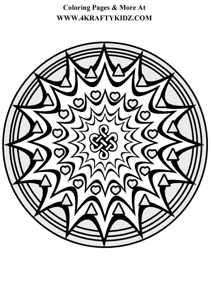698x936 Starburst Mandala Coloring Page Crafts Mandala
