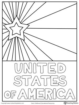 300x400 Usa Starburst Coloring Page American Independence, Child