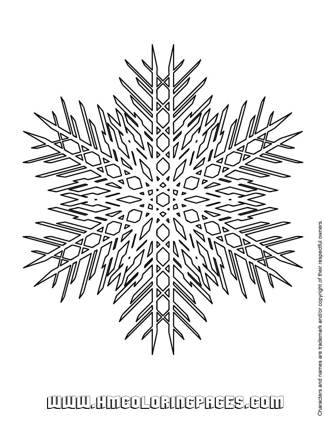 670x867 Best Icolor Snowflakes Images On Coloring Books