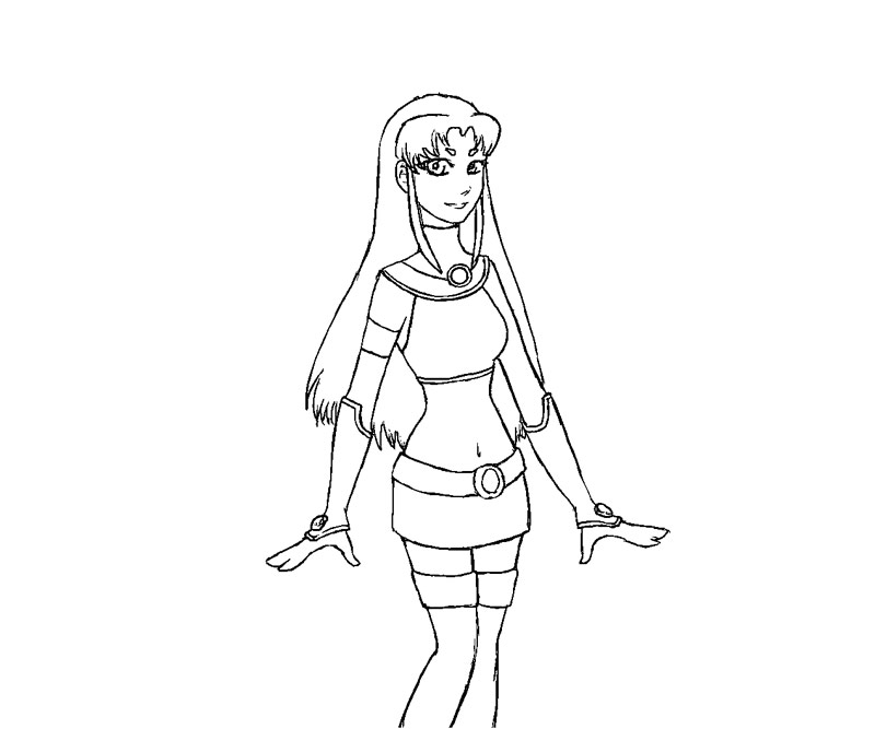 Starfire Coloring Pages