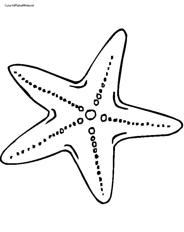 Starfish Coloring Pages For Kids