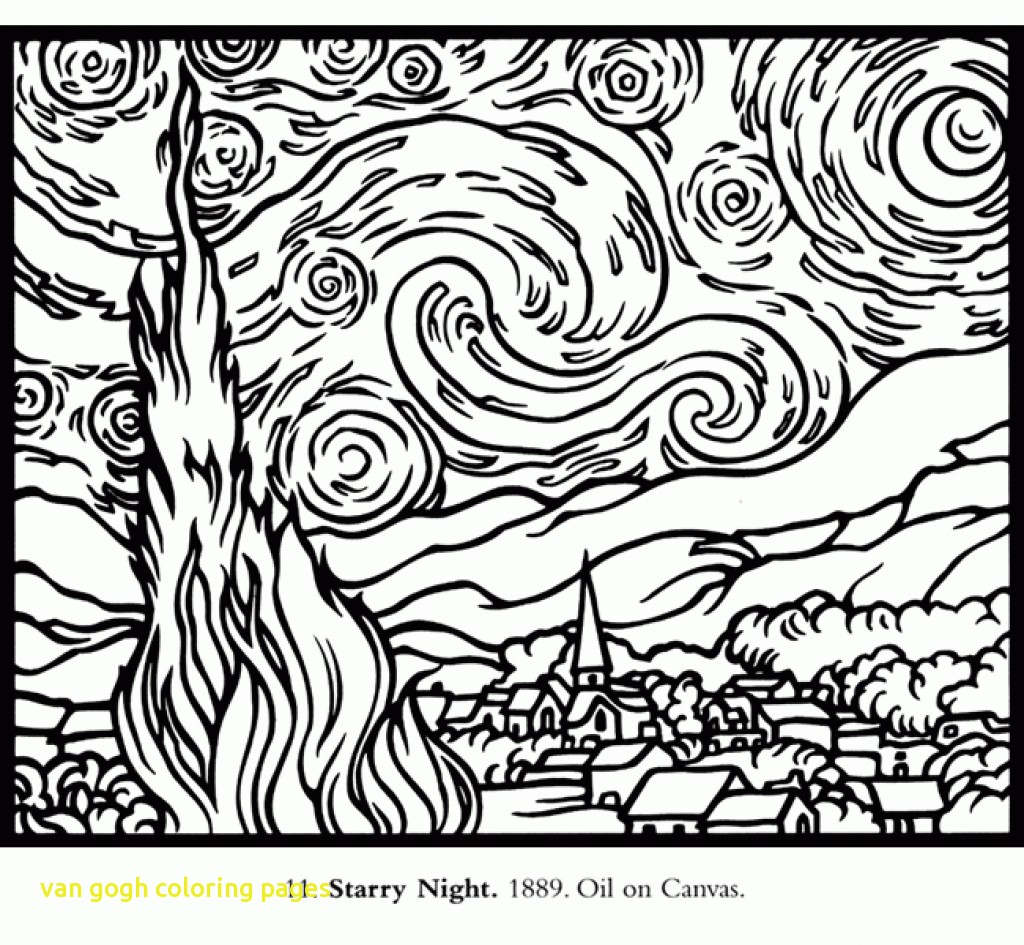 1024x945 Van Gogh Coloring Pages With Modern Ideas Starry Night Coloring