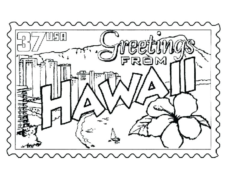 755x617 Simple Ideas Hawaii Coloring Pages Coloring Page Coloring Page