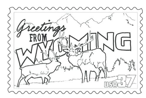 497x332 State Coloring Pages Stamp Coloring Page State Coloring Pages