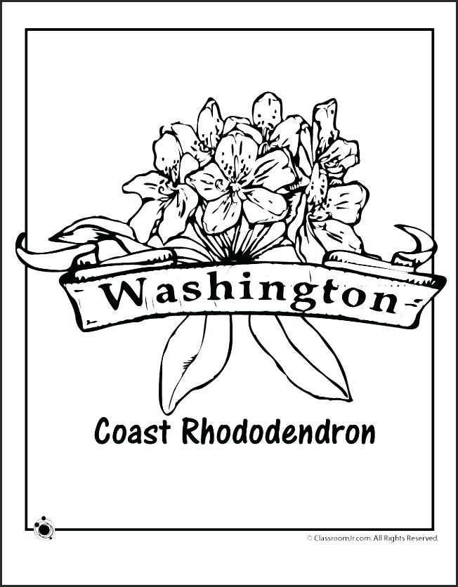652x836 Washington State Flag Coloring Page State Flag Coloring Page New