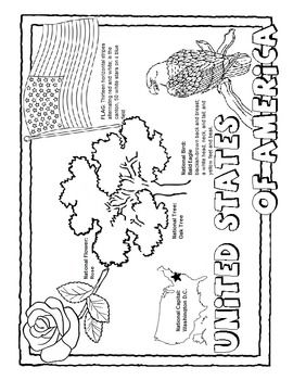 State Coloring Pages With Facts