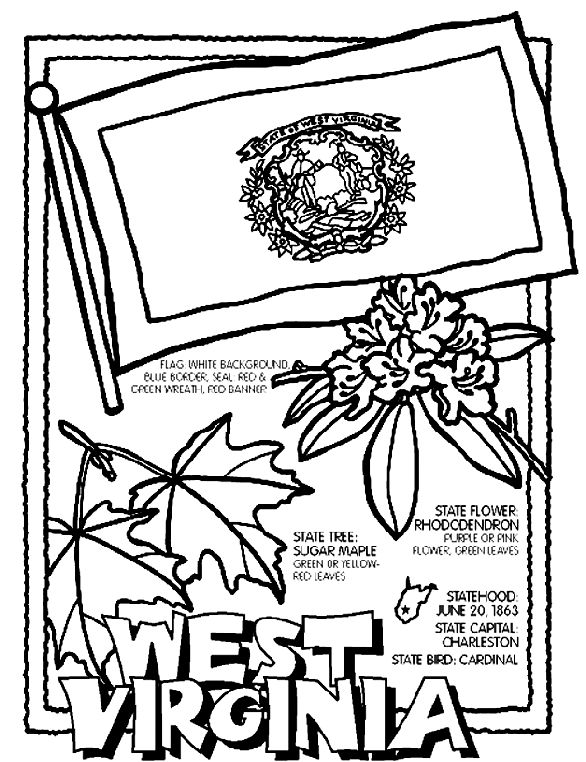 586x762 Best States Images On States, Coloring Book