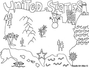 287x221 States Coloring Pages