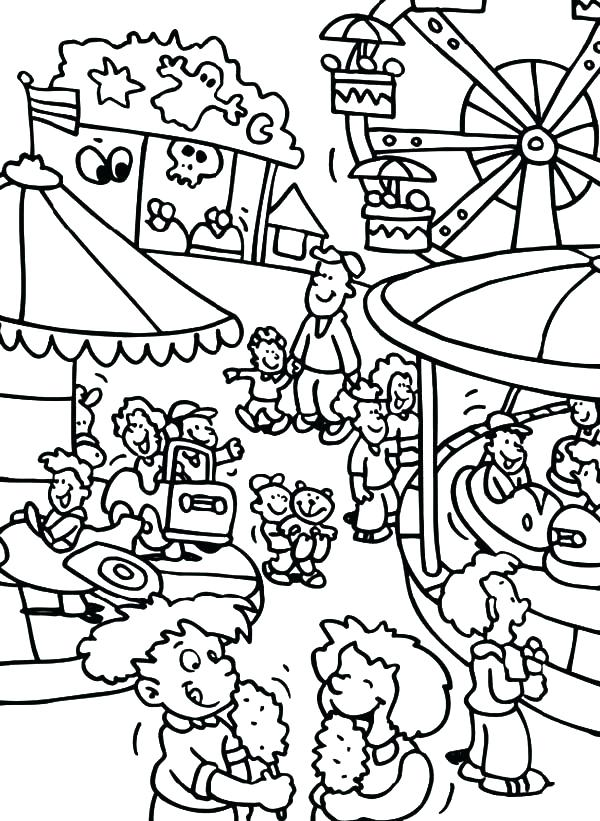600x821 Fair Coloring Pages Coloring Pages Of The Fair Iowa State Fair