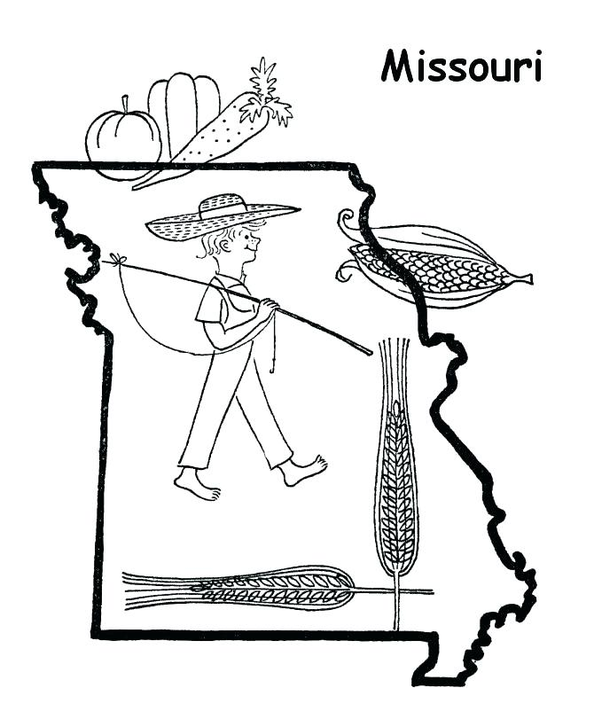 670x820 Missouri State Flag Coloring Page Coloring Page Free Printable