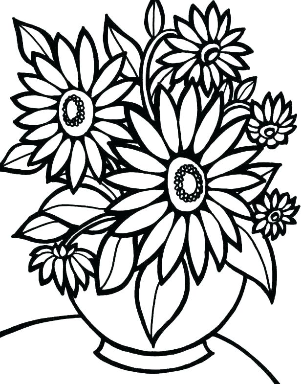 618x785 Flower Coloring Pages Printable State Flower Coloring Pages Free