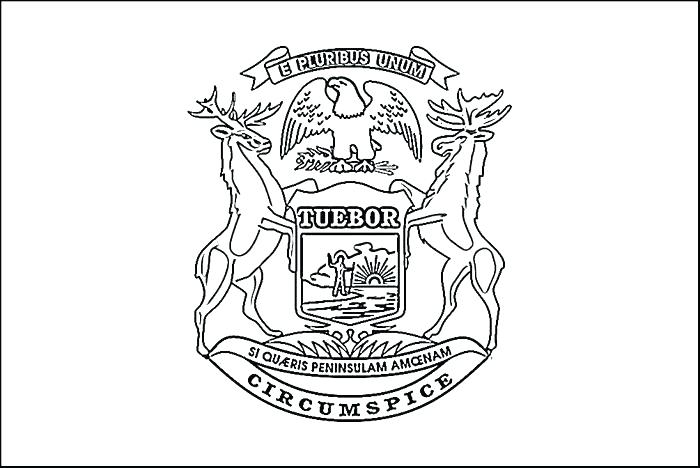 700x468 Michigan State Flag Coloring Page Michigan Coloring Pages State