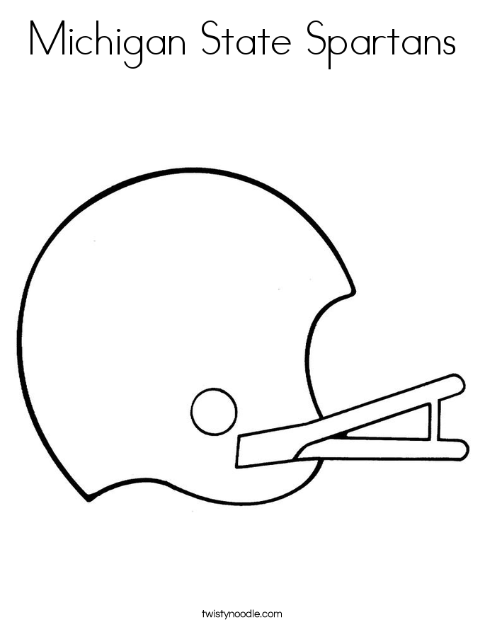 685x886 Michigan State Spartans Coloring Page