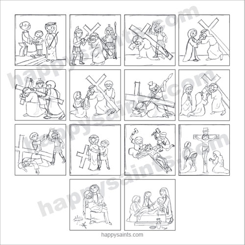 500x499 Coloring Pages Stations Of The Cross Coloring Book