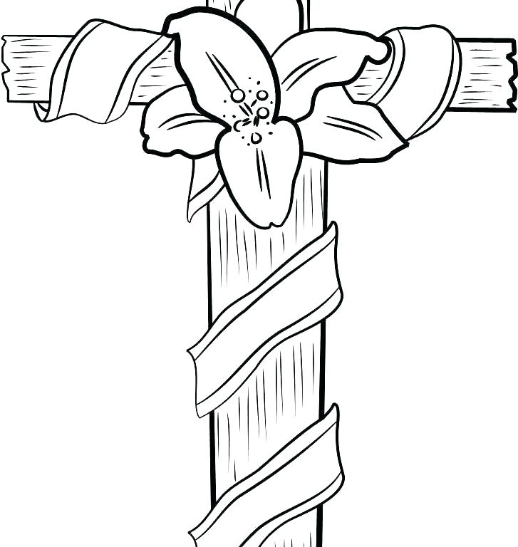 727x768 Cross Color Page Stations The Cross Coloring Pages Stations