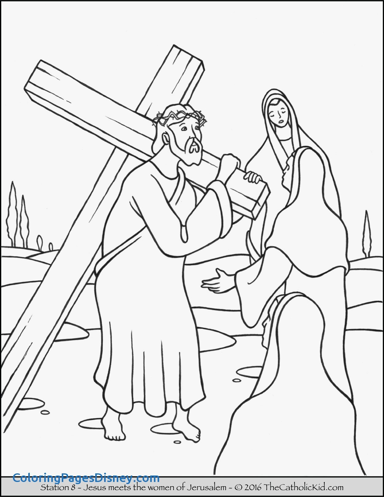 1250x1618 New Jesus Stations Of The Cross Coloring Pages