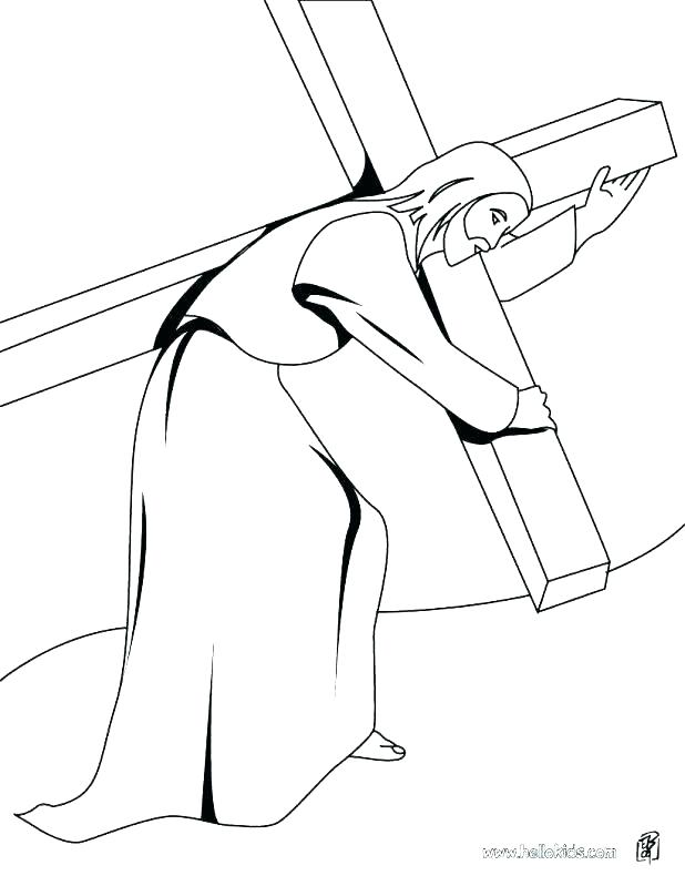 618x799 Stations The Cross Coloring Pages Stations The Cross Coloring