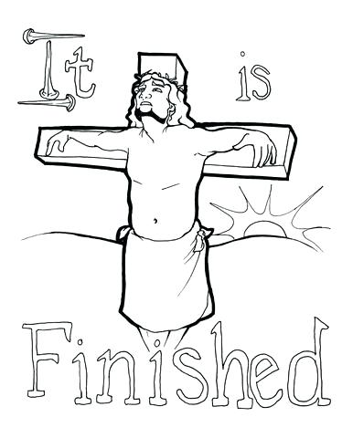 374x480 Jesus On Cross Coloring Page