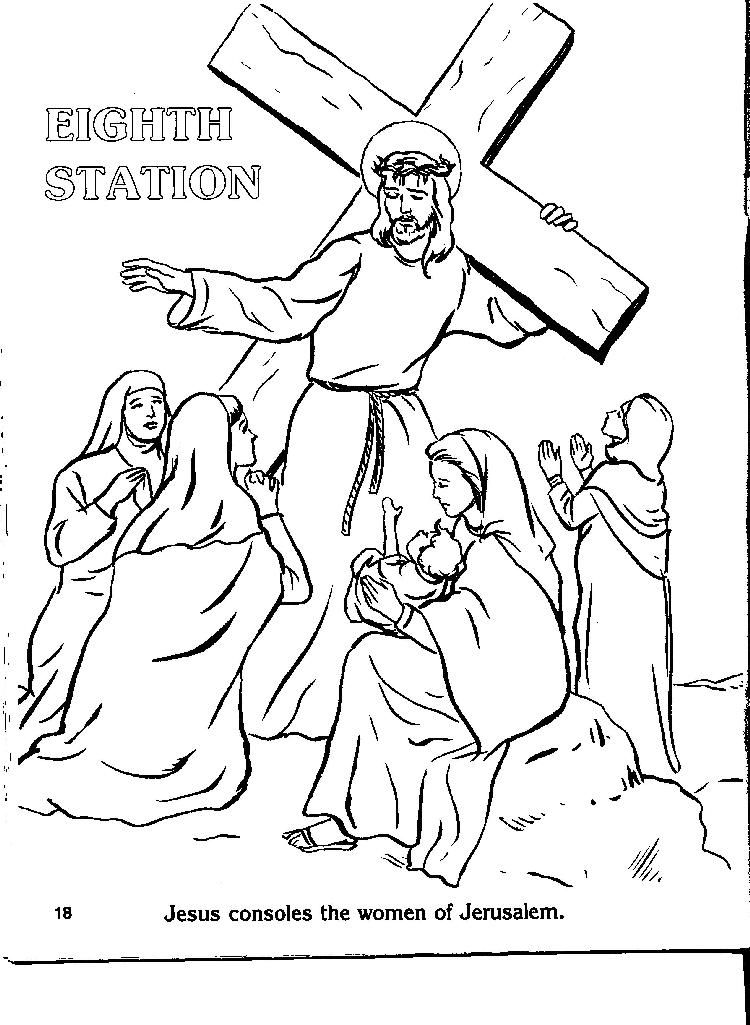 750x1025 Catholic Stations Of The Cross Coloring Pages Ooo