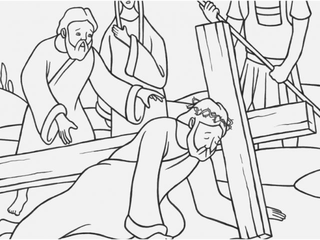 640x480 Coloring Page Cross Shoot Stations Of Cross Coloring Pages