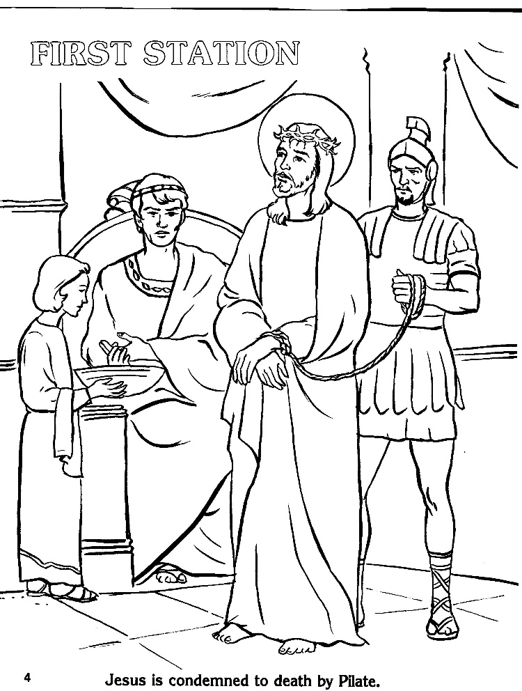 750x992 Coloring Page Stations Of The Cross Simple Stations Of The Cross