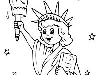 200x150 Fun Statue Of Liberty Coloring Pages Kids Printable
