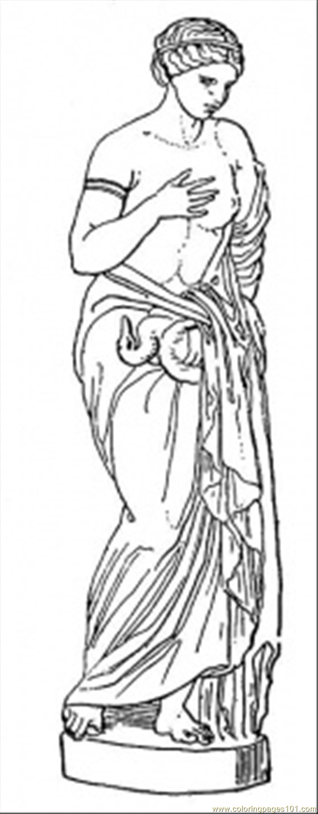 650x1660 Statue Coloring Page